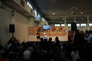 Io e Katty sul palco a presentare in cosplay di Ryuko e Mako da Kill la Kill Ph.Doz